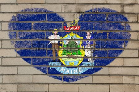 flag of US state of west virginia on brick wall painted with cha Stock photo © vepar5