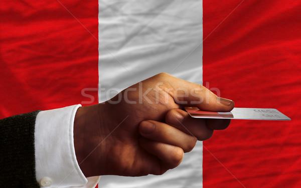 Vásárol hitelkártya Peru férfi nyújtás ki Stock fotó © vepar5