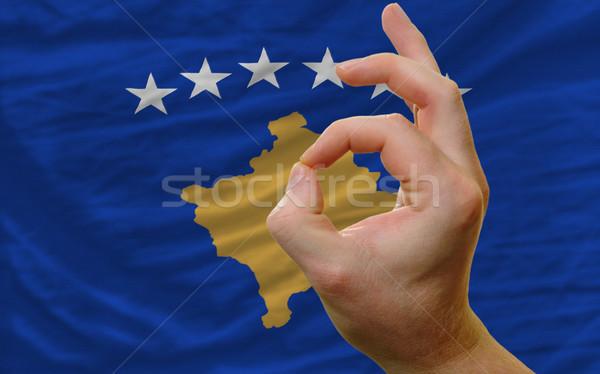 Gesto Kosovo bandeira homem Foto stock © vepar5
