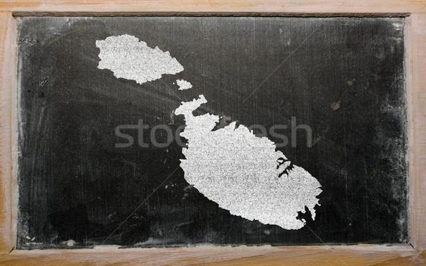Contorno mappa Malta lavagna disegno lavagna Foto d'archivio © vepar5