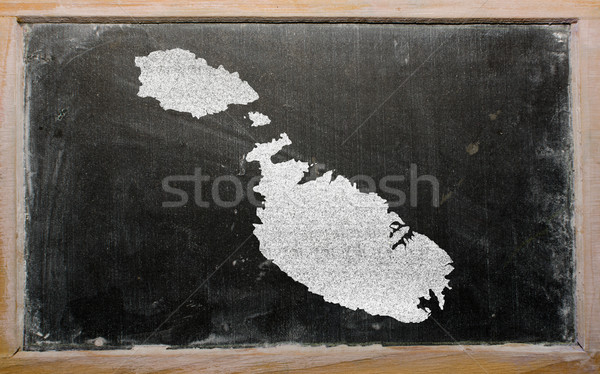 Schets kaart Malta Blackboard tekening schoolbord Stockfoto © vepar5