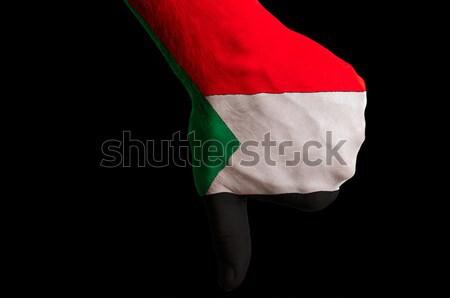 Soedan vlag beneden gebaar mislukking Stockfoto © vepar5