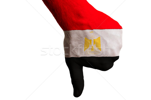 egypt national flag thumbs down gesture for failure made with ha Stock photo © vepar5