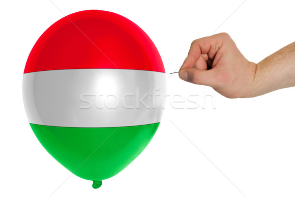 Bursting balloon colored in  national flag of hungary    Stock photo © vepar5