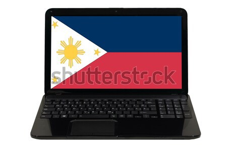 Bayrak Filipinler telefon Internet telefon Stok fotoğraf © vepar5