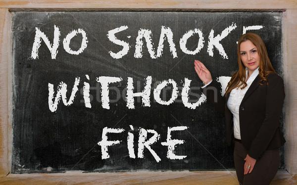 Maestro no humo fuego pizarra Foto stock © vepar5
