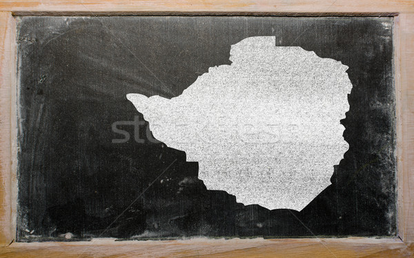 Carte Zimbabwe tableau noir dessin Photo stock © vepar5