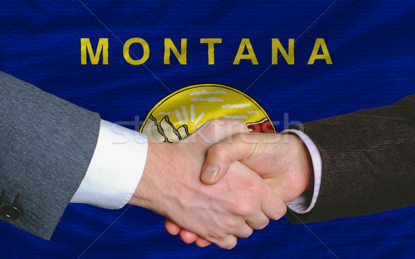 Pavillon Montana deux affaires mains Photo stock © vepar5