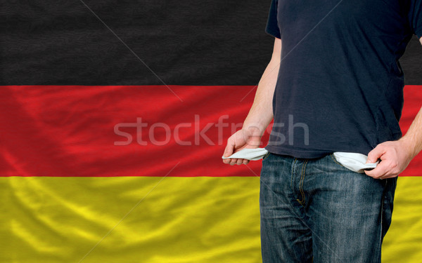 recession impact on young man and society in germany Stock photo © vepar5
