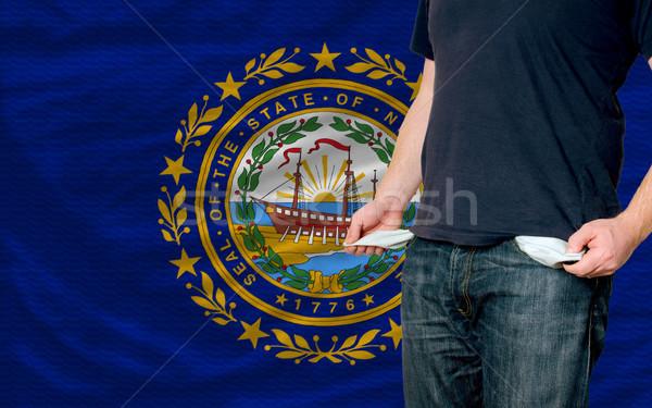 Foto stock: Recessão · moço · sociedade · americano · pobre · homem