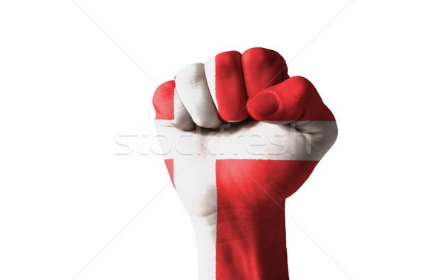 Puno pintado colores Dinamarca bandera bajo Foto stock © vepar5