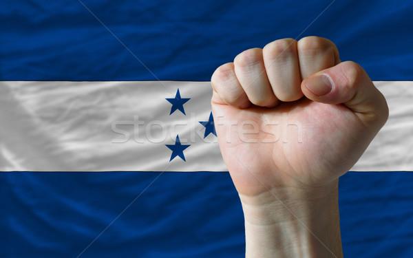 кулаком Гондурас флаг власти полный все Сток-фото © vepar5