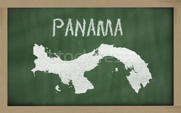 Gliederung Karte Panama Tafel Zeichnung gezeichnet Stock foto © vepar5