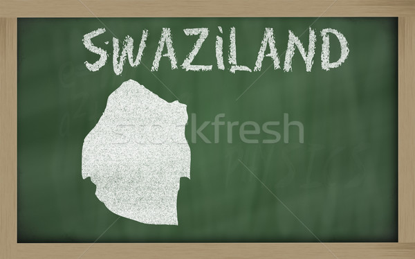 outline map of swaziland on blackboard  Stock photo © vepar5