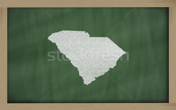 Contorno mappa Carolina del Sud lavagna disegno lavagna Foto d'archivio © vepar5