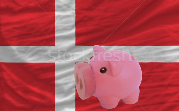 Stock fotó: Malac · gazdag · bank · zászló · Dánia · takarékosság