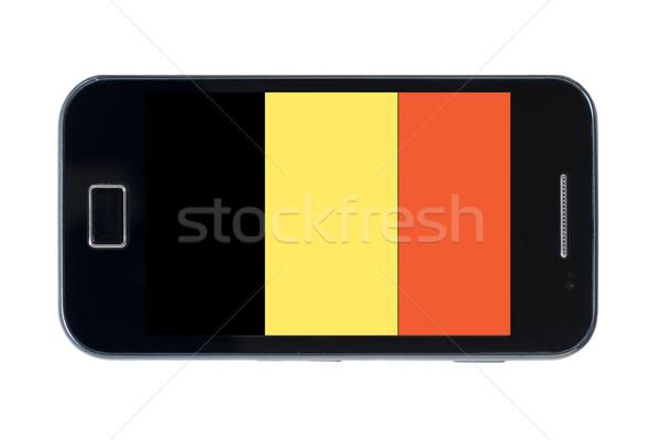 Bayrak Belçika telefon Internet telefon Stok fotoğraf © vepar5
