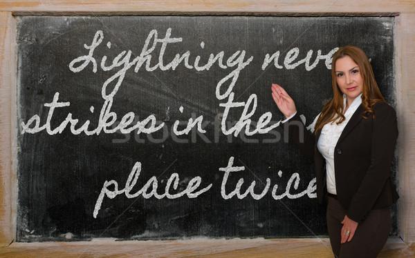 Lehrer Blitz nie Stelle erfolgreich Stock foto © vepar5