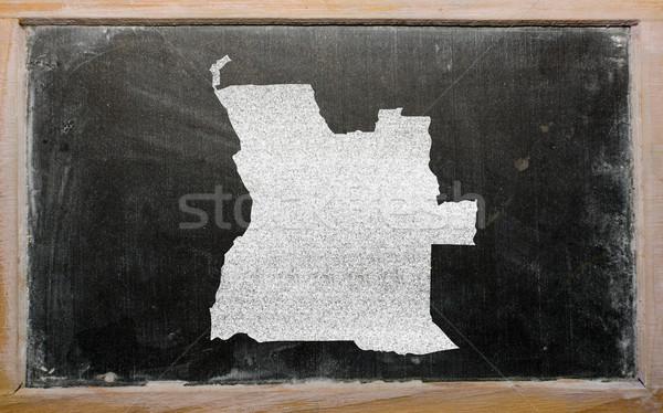 карта Ангола доске рисунок Сток-фото © vepar5