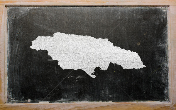 Skicc térkép Jamaica iskolatábla rajz rajzolt Stock fotó © vepar5