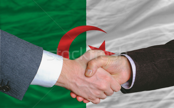 бизнесменов рукопожатие хорошие дело Алжир флаг Сток-фото © vepar5