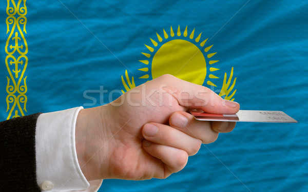 buying with credit card in kazakhstan Stock photo © vepar5