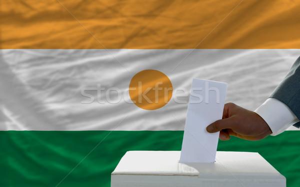 Hombre elecciones bandera Níger votación Foto stock © vepar5
