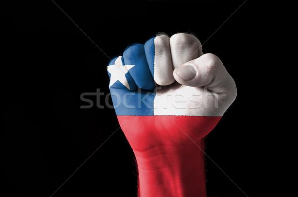 Puno pintado colores Chile bandera bajo Foto stock © vepar5