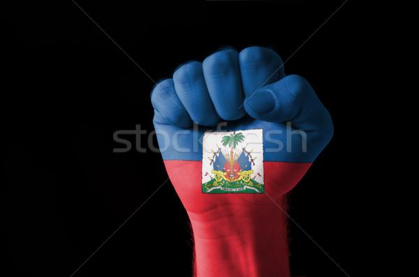 Puno pintado colores Haití bandera bajo Foto stock © vepar5