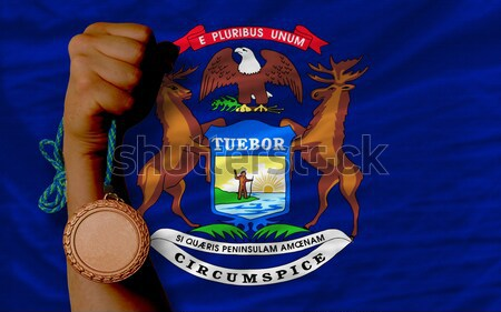 Bandera americano Michigan todo marco Foto stock © vepar5