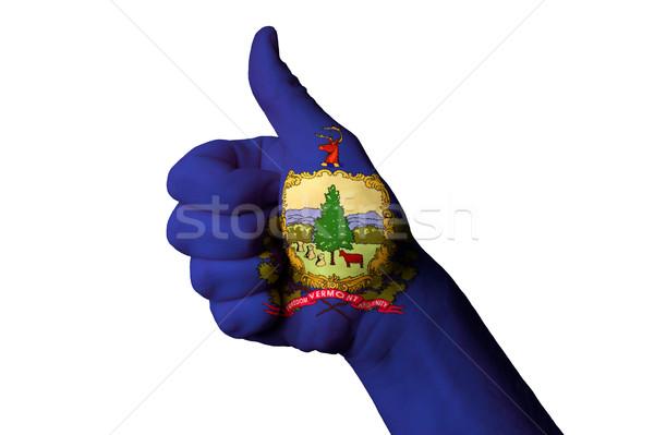 Vermont bandiera pollice up gesto eccellenza Foto d'archivio © vepar5