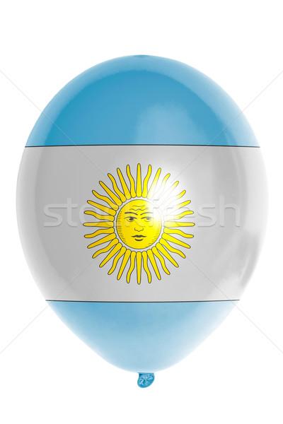 Balão bandeira Argentina feliz viajar Foto stock © vepar5