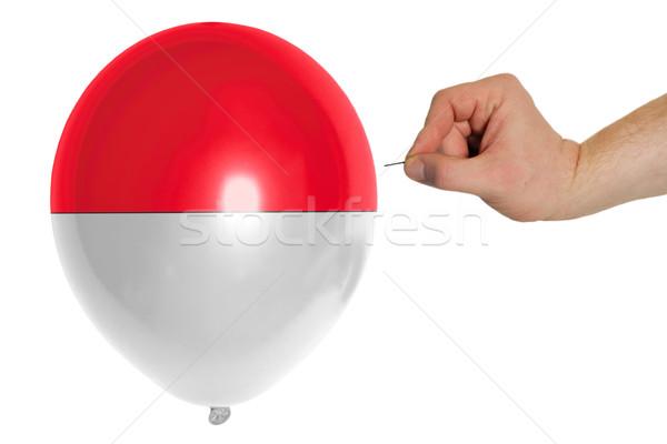 Balão bandeira Indonésia conceito política Foto stock © vepar5