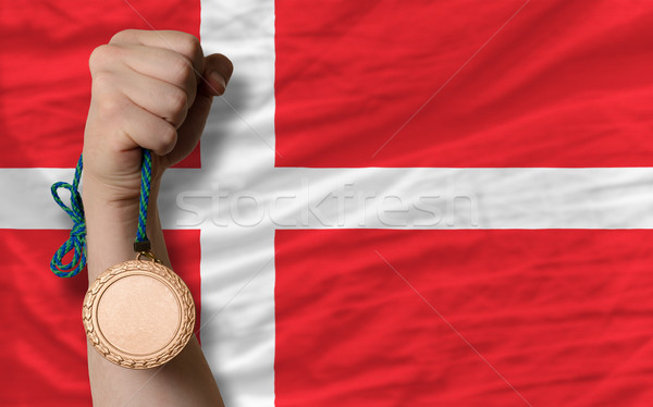 Bronzen medaille sport vlag Denemarken Stockfoto © vepar5