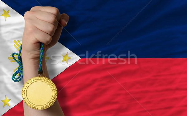 金メダル スポーツ フラグ フィリピン 勝者 ストックフォト © vepar5