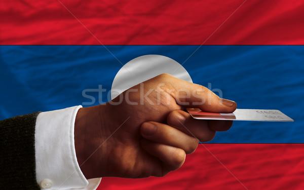 Kopen creditcard Laos man uit Stockfoto © vepar5