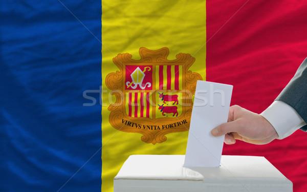 man voting on elections in andora Stock photo © vepar5
