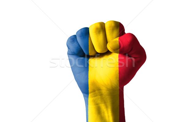こぶし 描いた 色 ルーマニア フラグ 低い ストックフォト © vepar5