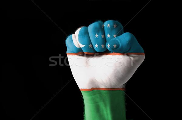 Puno pintado colores Uzbekistán bandera bajo Foto stock © vepar5