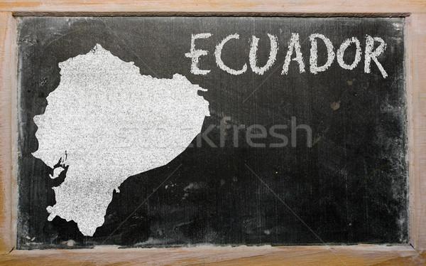 Mapa Ecuador pizarra dibujo Foto stock © vepar5