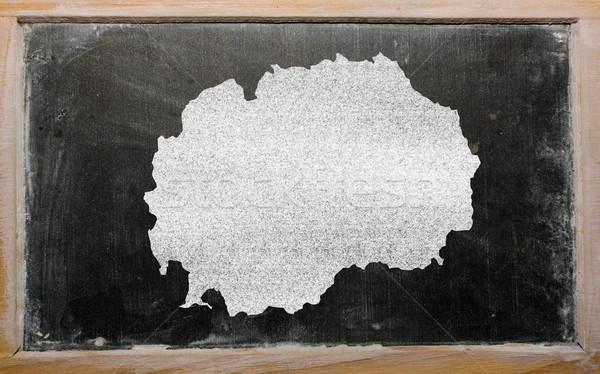 карта Македонии доске рисунок доске Сток-фото © vepar5