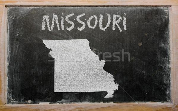 Mapa Misuri pizarra dibujo americano Foto stock © vepar5