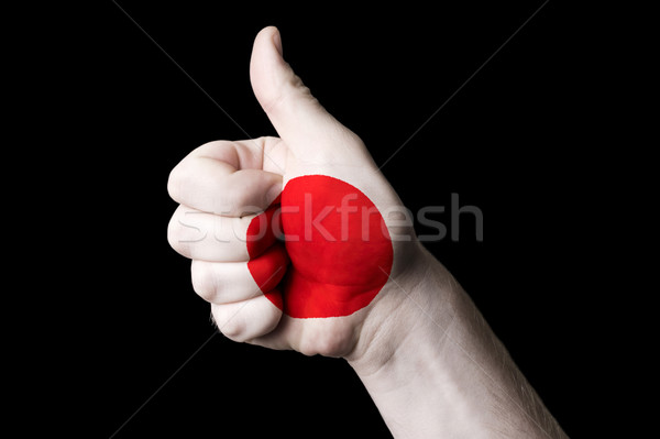 japan national flag thumb up gesture for excellence and achievem Stock photo © vepar5