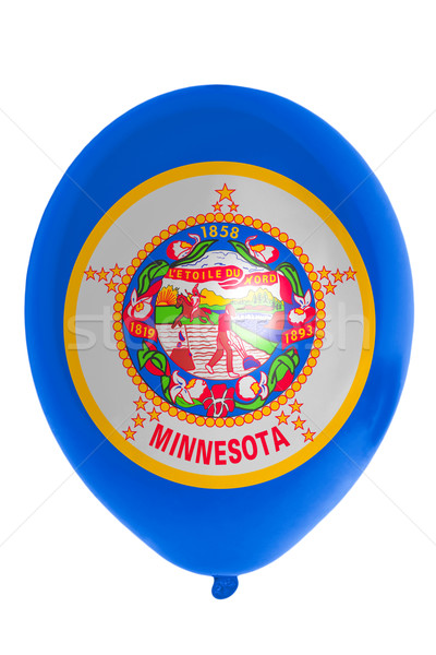 Balloon colored in  flag of american state of minnesota    Stock photo © vepar5