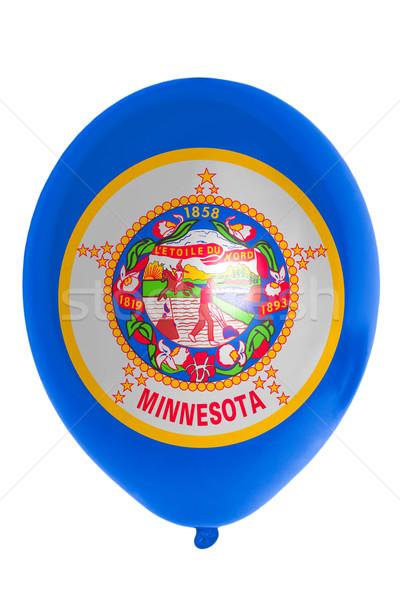 Léggömb színes zászló amerikai Minnesota boldog Stock fotó © vepar5