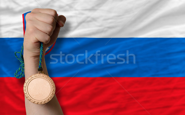 Bronze medal for sport and  national flag of slovenia Stock photo © vepar5
