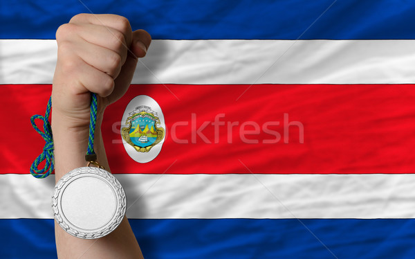 Silver medal for sport and  national flag of costarica    Stock photo © vepar5
