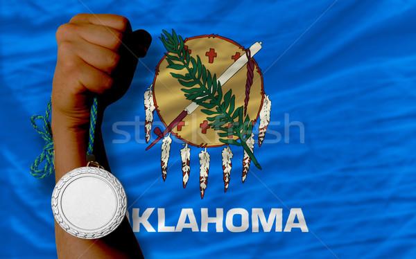Zilver medaille sport vlag amerikaanse Oklahoma Stockfoto © vepar5