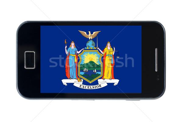 Bandera americano Nueva York teléfono teléfono Foto stock © vepar5