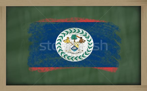 Zászló Belize iskolatábla festett kréta szín Stock fotó © vepar5